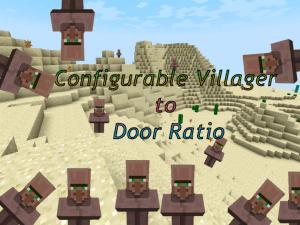 [Mod][1.10.2] Configurable Villager to Door Ratio — Упрощение размножения жителей
