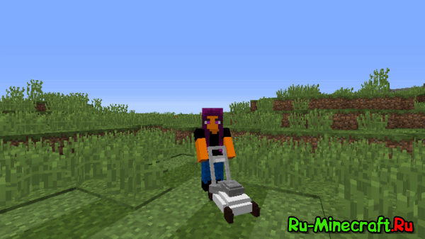 [1.10.2] Lawnmower - газонокосилка в Minecraft