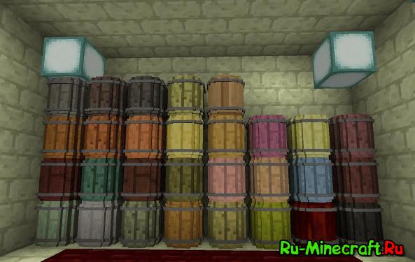 [1.9.4-1.10.2] Simple Barrels - бочки для хранения ресурсов