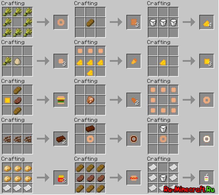 ExtraFood Mod v1.2 - новая еда [1.11.2] [1.10.2] [1.9.4] [1.8.9] [1.7.10]
