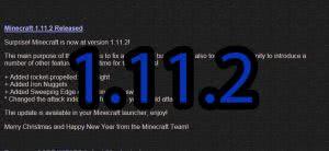 Обновление майнкрафт до 1.11.2