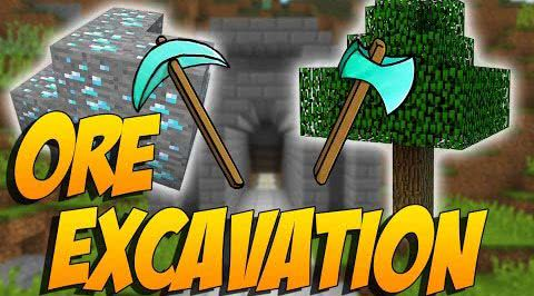 Ore Excavation - ломай скопления руд [1.12.2] [1.11.2] [1.10.2] [1.7.10]