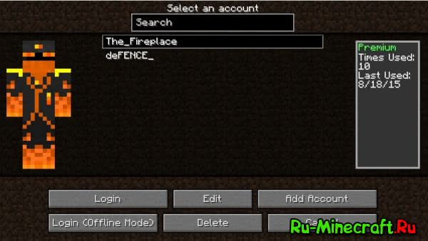 Ingame Account Switcher [1.12.2] [1.11.2] [1.10.2] [1.9.4] [1.8.9] [1.7.10]