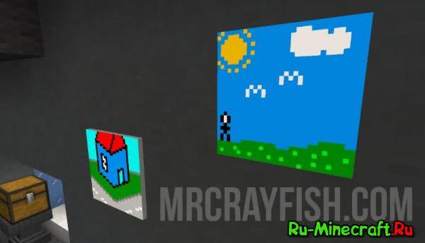 MrCrayfish's Painting Mod - рисуй картины в игре [1.11.2]