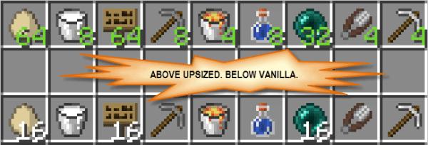 Upsizer Mod - стакуй нестакуемое [1.11.2|1.8.9]