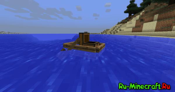 Storage Boats Mod - перевозим вещи в лодке [1.12.2] [1.11.2] [1.10.2]