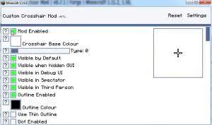 Custom Crosshair Mod - настраивай прицел [1.16.5] [1.15.2] [1.14.4] [1.12.2] [1.11.2] [1.8.9] [1.7.10]