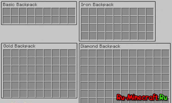 Iron Backpacks - рюкзаки [1.12.2] [1.11.2] [1.10.2] [1.8.9] [1.7.10]