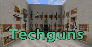 Techguns Mod оружие, npc, броня, кровь [1.12.2] [1.7.10]