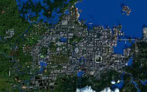 Карта Broville v11 - огромный мир и город [1.10+]