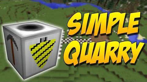 Simple Quarry - копатель [1.12.2] [1.11.2] [1.10.2] [1.9.4]