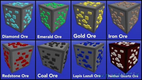 HudCraft - ресурспак с кучей блоков в 3D [1.11.2][16x16]