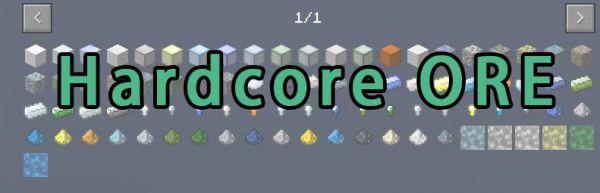Hardcore ORE - новые руды [1.12.1] [1.11.2] [1.10.2]