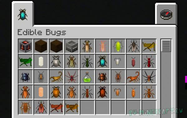 Edible Bugs - кушай жуков [1.14.4] [1.12.2] [1.11.2] [1.10.2]