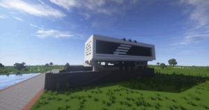 Простой готовый дом в стиле модерн - карта [1.11+]
