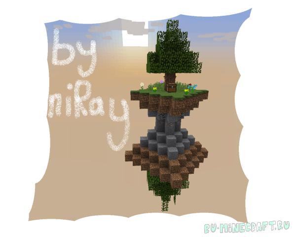 SkyBlock niRay - карта выживания на летающем острове [1.8+]