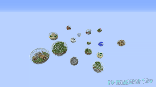 World In Spheres - Карта на выживание [1.8][MAP]