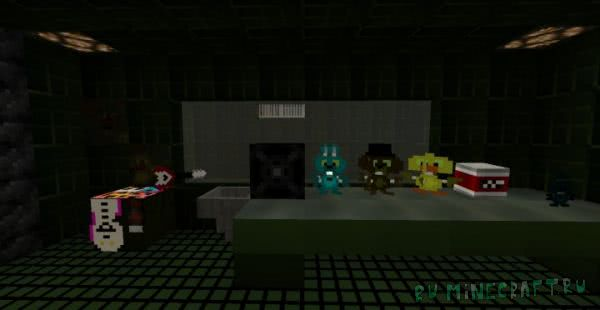 Five Nights At Freddy's 3 - знаменитая игра в Minecraft [1.8+]