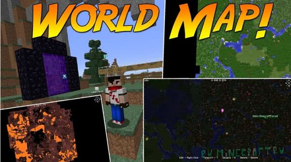 Xaero's World Map [1.12] [1.11.2] [1.10.2] [1.9.4] [1.8.9] [1.7.10]