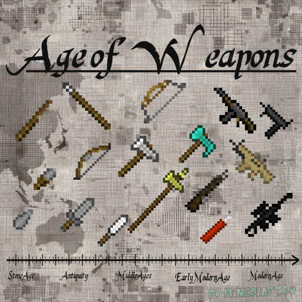 Age of Weapons - мод на оружие разных времен [1.12.2] [1.11.2]