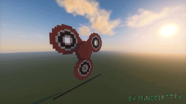 Fidget Spinner [1.12] - Огромный  механнический спиннер без модов!