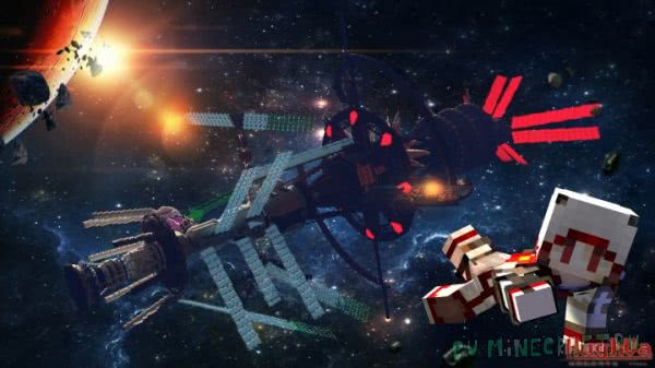 Космическая станция - карта для майнкрафт 1.11.2+