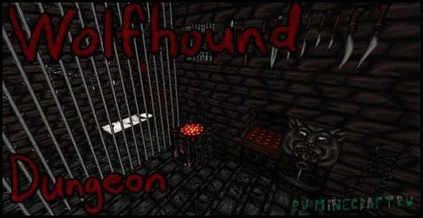 Wolfhound Dungeon - мрачный и тёмный ресурспак [1.16.4] [1.15.2] [64x]