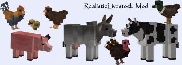 Realistic Livestock mod [1.7.10]