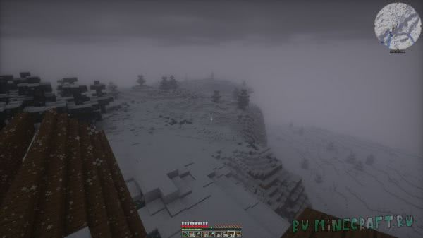 Snow Accumulation - реалистичный снег и сугробы [1.12.2]