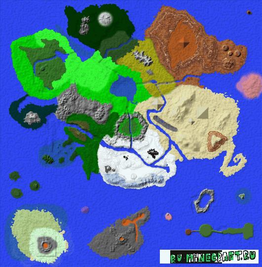 The Central Island - карта огромный остров [1.12]