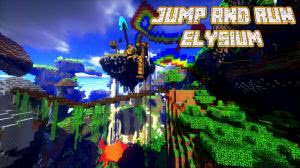 Jump and Run Elysium - паркур карта [1.10+]