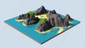 King Skull Island - карта с тропическим островом