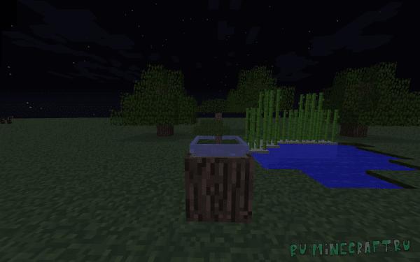 Bonsai Trees mod - мини-деревья, бонсай [1.12.2]