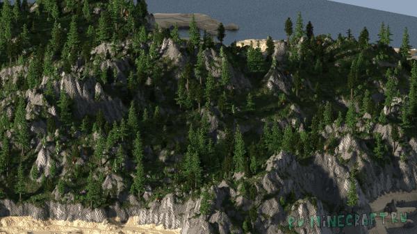 Каменный остров - WorldMachine 1500x1500 [MAP][1.8.0+]