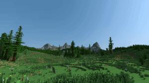 Красивая местность с горами для майнкрафт