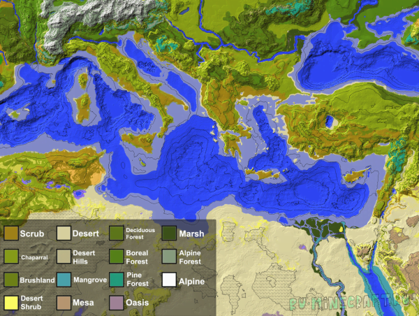 2K Mediterranean - карта средиземноморья  [1.7.10]