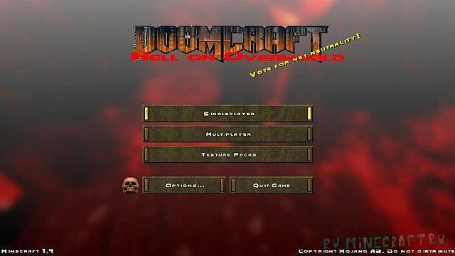 [ResourcePack][1.7.10]Doom craft - заDooMчивый ресурс пак