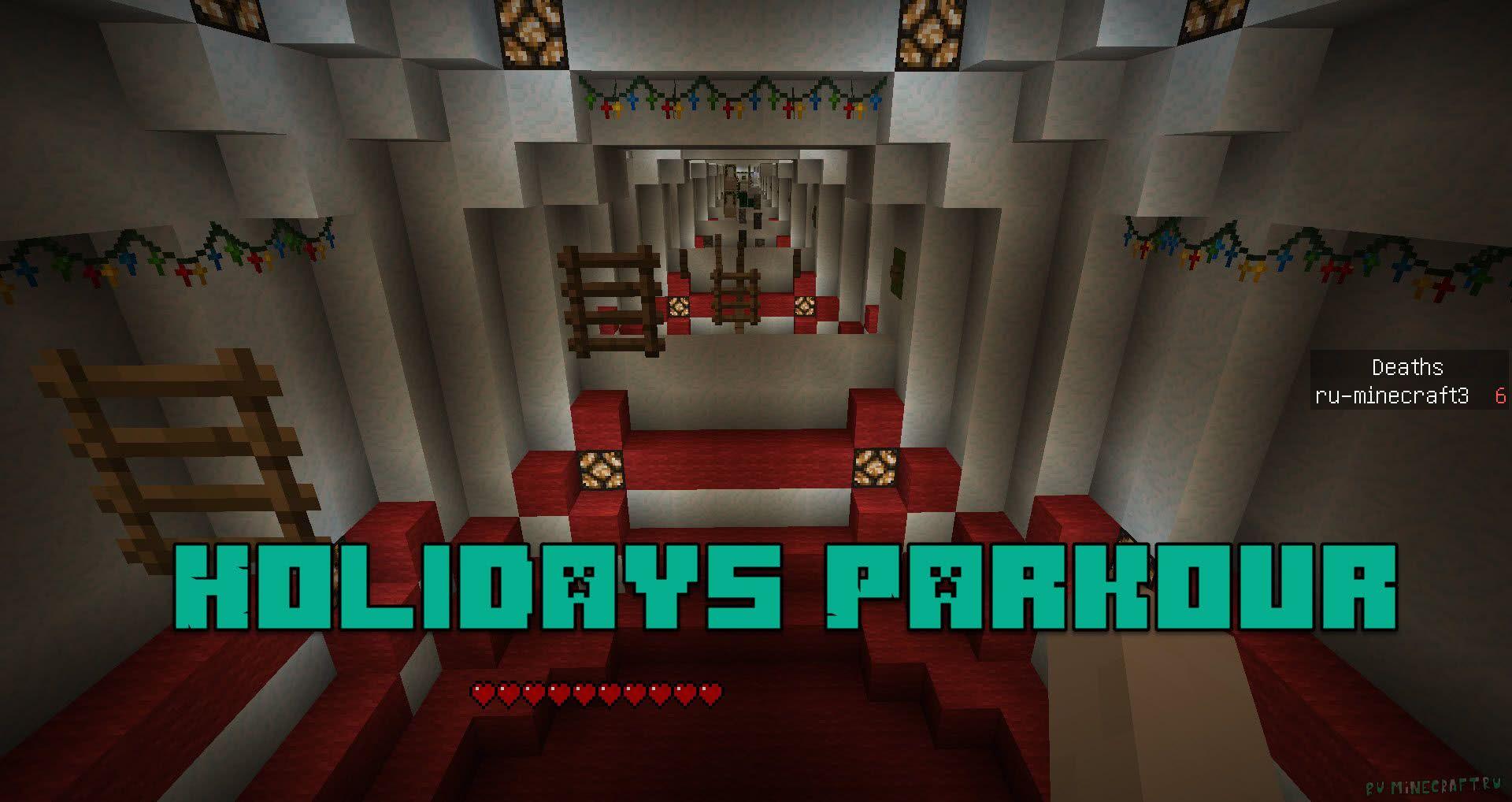 Block parkour map 1. 8. 7/1. 8 карты для майнкрафт.