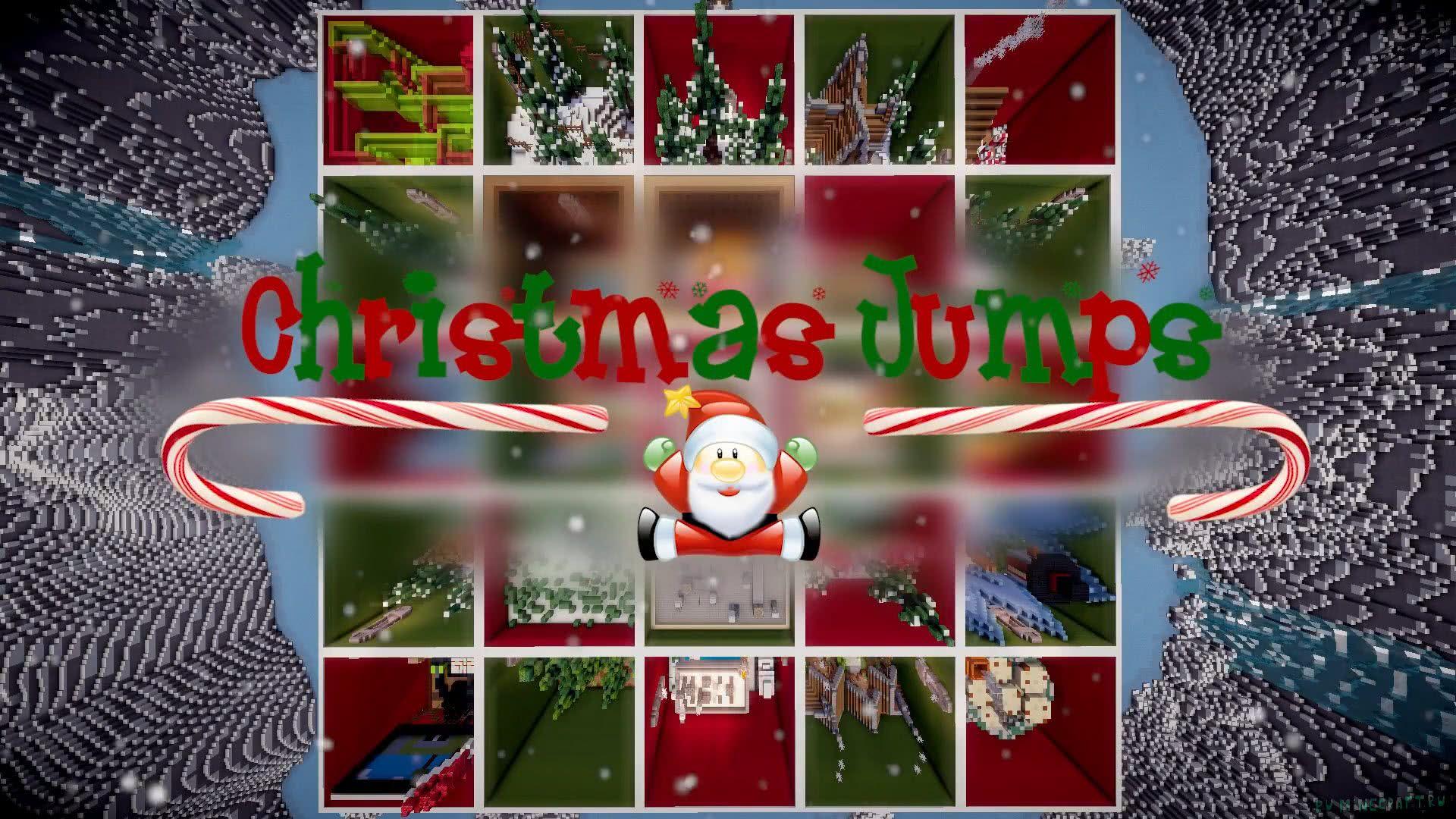 Карта Christmas Jumps - рождественские паркур испытания  1.12.2 ... f2fc8cd8dc2