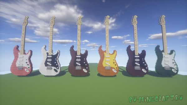 Guitars Collection - карта с коллекцией электрогитар [1.12+]