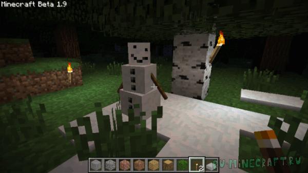 Pumpkin-less Snow Golem - снеговик [1.8] [1.7.10] [1.6.2]