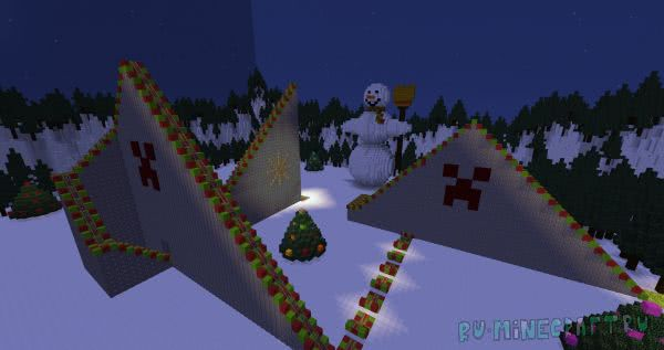 Journey To The Christmas Tree - рождественский паркур [1.12.2]