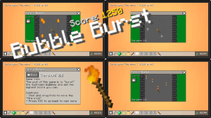 Bubble Burst - игра внутри майнкрафт [1.12.2]
