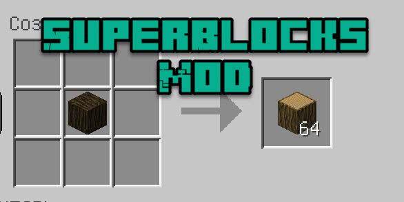 SuperBlocks Mod - блоки из других блоков [1.15.2] [1.14.4] [1.12.2] [1.11.2] [1.8.9]