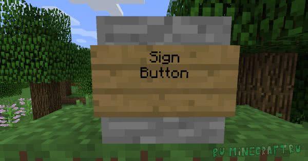 Sign Button - таблички кнопки [1.15.2] [1.14.4] [1.13.2] [1.12.2]
