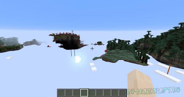Mars mod - генерация мира - острова биомы [1.12.2]