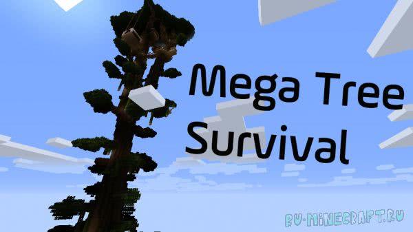 Mega Tree Survival - выживание на огромном дереве [1.12.2+]