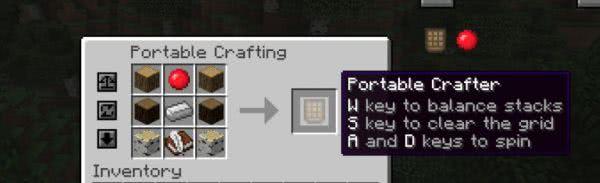 Portable Crafting - портативный верстак [1.12.2] [1.10.2] [1.8.9]