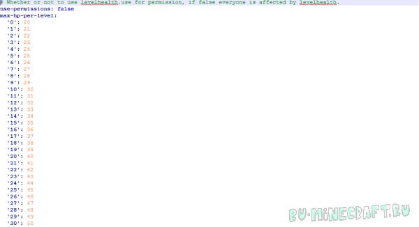 LevelHealth [1.12.2] [1.11.2] [1.10] [1.9.4] [1.7.10] [1.6.4]