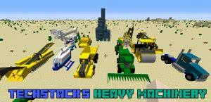 TechStack's Heavy Machinery Mod - машины, трактора, техника [1.12.2] [1.8.9]